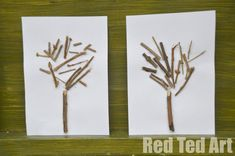 """Exploring the Four Seasons through nature - first up our """"Winter Stick Craft"""""""