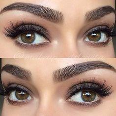 soft smokey eyes and perfect eyebrows