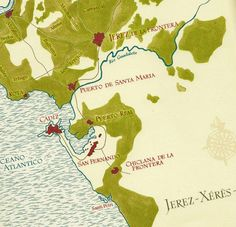 Jerez Xeres Sherry #sherry #map #Spain
