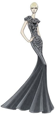 by atelier versace #fashion #moda #ilustracion #sketch #boceto