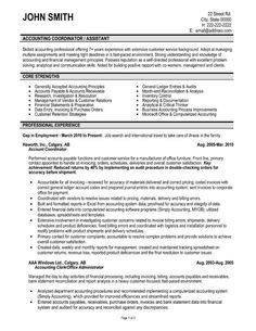 Accounting Coordinator professional resume template. Download here.