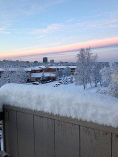 @Lindsay Tymick- #TODAYsunrise in Anchorage, Alaska. After the first snowfall 11/10.