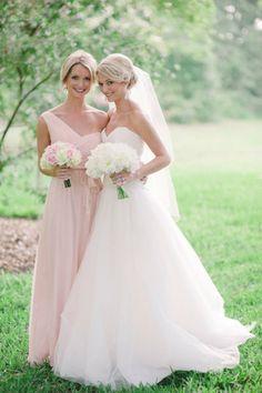 beautiful bride and maid of honor shot.