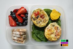 Breakfast for #lunch. These omelet muffins are so easy and heats up perfectly (yummy at room temp also).#backtoschool #Easylunchboxes