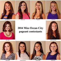 45th annual Miss Ocean City contestants include: Emily Aita, Nicole Bachich, Kendall Coughlin, Samantha Del Sordo, BriarRose Ginn, Abby Montemurro, McKayla Perry, Isabella Rose, Miranda Schumacher, and Jayne Snyder.