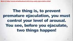 How To Stop Premature Ejaculation Tonight