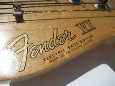 Fender VI Logo: 1962 Fender Bass VI Electric Bass Guitar