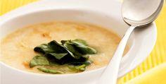 Receita de sopa de alho com agrião