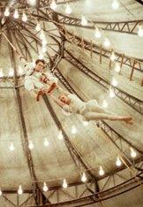 1940s Circus big tent acrobat  performance