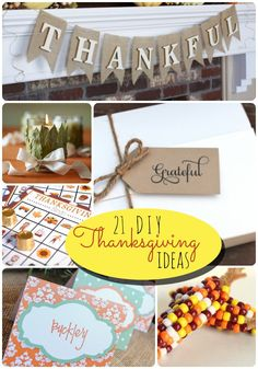 21 diy thanksgiving