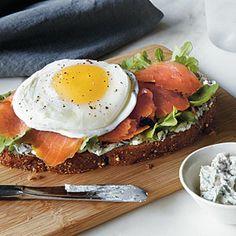 Smoked Salmon and Egg Sandwich | MyRecipes.com #myplate #protein #grain