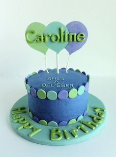 Wilton Cake Decorating Balloons : Justin Bieber Theme on Pinterest Justin Bieber, Birthday ...