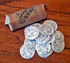 """Seed Money are hand-illustrated and letterpress printed """"coins"""" embedded with seeds. #guerrillagardening"""