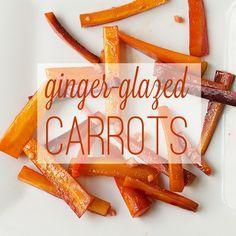 glaze carrot, gingerglaz carrot, food, carrots, recip, gingers, veget, thanksgiving sides, ginger glaze