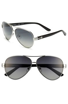 Like the subtle Tory Burch logo on these aviators.