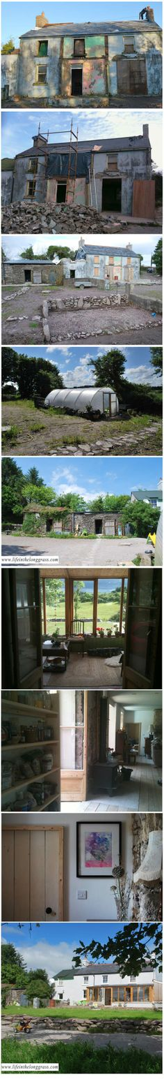 and the after pics of the before and after Irish farmhouse
