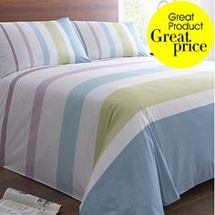 Multi coloured 'Denver Striped' bedding set - really like this, it's still enough of a blue for the main theme with a bit of an accent