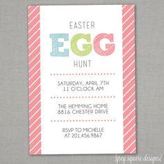 Easter Egg Hunt Invitation by greysquare on Etsy, $12.00