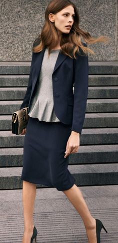 navy blue suit with