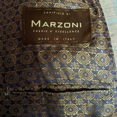 Marzoni-custom suit fabric and lining.