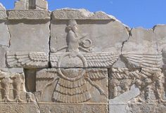 Shift Happens - the Zoroastrian Connection ~ J. M. Green.  Click image to read about how the Persian religion influenced Jewish and Christian beliefs. ancient sculptur, ahura mazda, iran, symbols, ancient architectur, architectur art, ancient historyarcheolog, ancient ruin, ancient civil