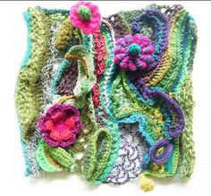 Earth:Blooming by Mitsuko Tonouchi Tokyo, Japan From the International Freeform Fiberarts Guild 2007 Freeform Crochet and Knitting Exhibits This exhibit challenged participants to submit freeform pieces inspired by the Four Elements.