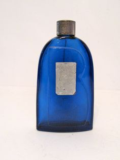 Vintage Cobalt Blue Perfume Bottle