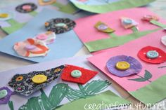 Spring Button Flowers ~ Creative Family Fun