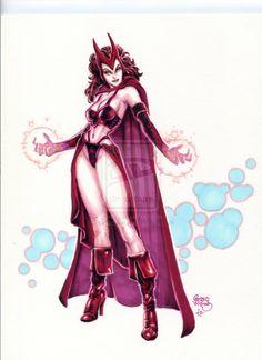 super hero, scarlett witch, marvel art, marvel comic, danger diva