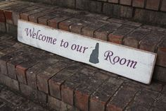 Welcome to Our New Hampshire Room Custom Painted Wood Sign #newhampshire #woodsign #customsign | http://signsbyandrea.com