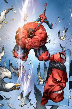 Avenging Spider-Man color pg 1//Joe Madureira/M/ Comic Art Community GALLERY OF COMIC ART