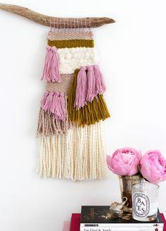 DIY woven wall hanging
