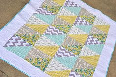 triangles quick baby quilt design