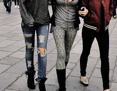 street fashion, outfits, varsity jackets, teen fashion, friends