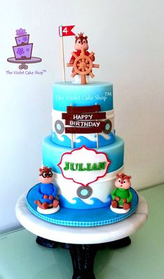 ALVIN  THE CHIPMUNKS Chipwrecked Cake