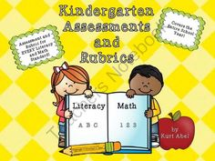 Kindergarten Assessments and Rubrics from NJ Reading Teacher on TeachersNotebook.com -  (370 pages)  - Assessment and Rubric for EVERY Kindergarten standard.
