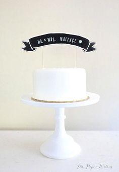 chalkboard cake topper?