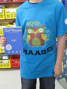 Reading Projects: Design a T-shirt (front and back) to go with your book talk. How fun!