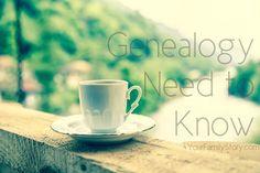 6 #Genealogy Things You Need to Know Today, Thursday, 12 Jun 2014, via 4YourFamilyStory.com. #needtoknow #familytree