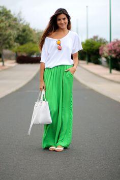 Green & White #StreetStyle