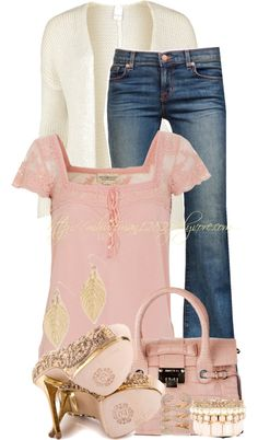 """Light & Lacy 2"" by mhuffman1282 on Polyvore"