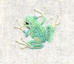 embroidered frog