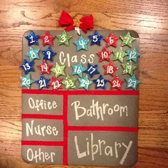 Each student is assigned a number and will move their magnet when they leave the classroom to the appropriate spot! Great way to keep track of my students!!
