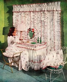 """""""Carnation Fantasy""""  'The American Home' magazine, May 1956"""
