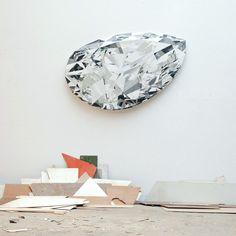 Diamond made of salvaged wood by Ron van der Ende.