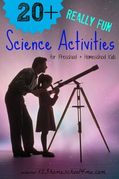 20+ Really Fun Science Activities for Kids. So many great hands on Science Ideas for Preschool and Homeschool STudents.
