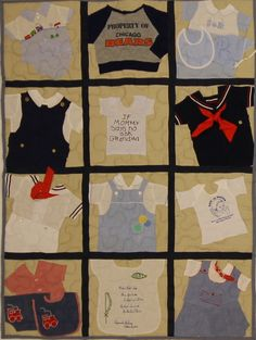 Sweet little boy's quilt. 12 sq. Picnic Quilt with denim backing and navy sashing.