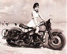 Bikini biker babe
