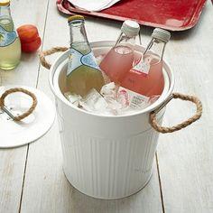 Outdoor Metal Ice Bucket #WestElm
