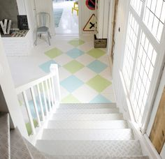 painted square stencils